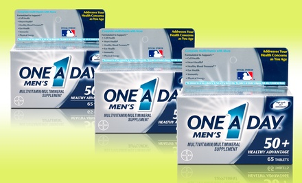 One A Day Men's 50+ Healthy Advantage Multivitamin; 3-Pack of 65ct. Bottles + 5% Back in Groupon Bucks