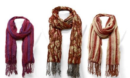 K&J Printed Fall Scarves. Multiple Styles Available.