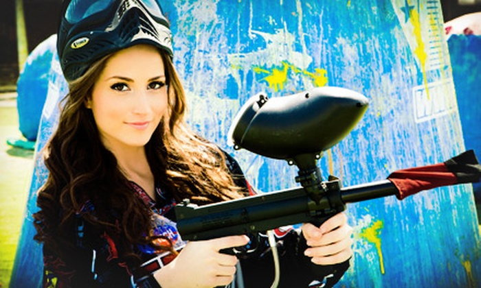 Paintballtickets.com - Multiple Locations: All-Day Paintball Package with Equipment Rental for Two, Four, or Six from Paintballtickets.com (80% Off)