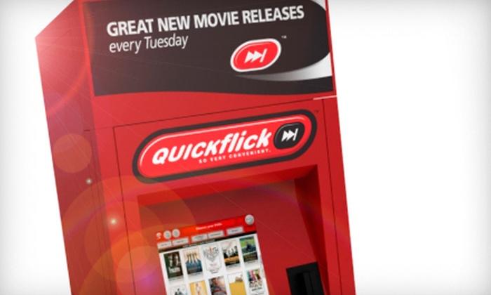 QUICKflick Movie Rental Kiosks - Houston: $2 for 5 DVD Rentals from QUICKflick ($6 Value)
