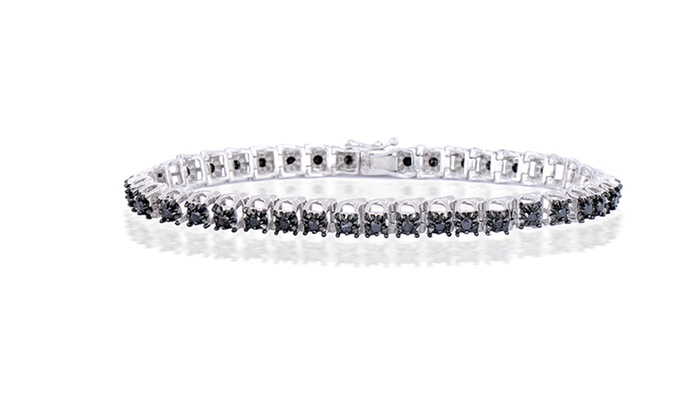Extrêmement Black Diamond Tennis Bracelet | Groupon Goods VJ12
