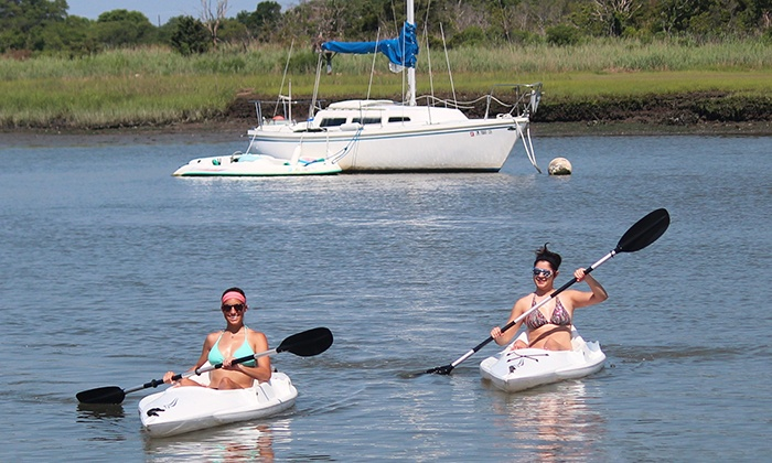 Miss Chris Kayak Rentals and Tours - Miss Chris Marina Kayak Rentals: Kayak Rental from Miss Chris Kayak Rentals and Tours in Cape May (Up to 48% Off). Two Options Available.