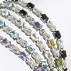 Gemstone and Diamond Accent X and Oval Bracelets