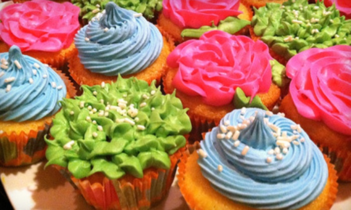 Cupcake Princess - Port Gardner: $14 for a Dozen Vanilla and Chocolate Cupcakes from Cupcake Princess ($28 Value)