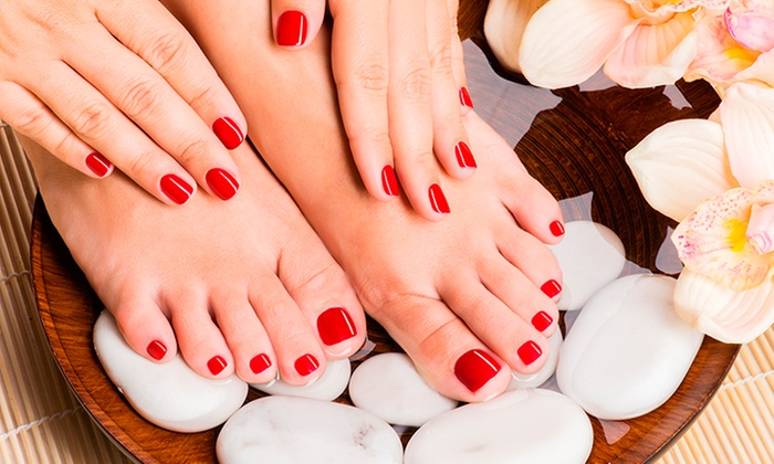 Limonchi Spa & Salon - Country Isles: One or Three Manicures and Pedicures at Limonchi Spa & Salon (Up to 49% Off)