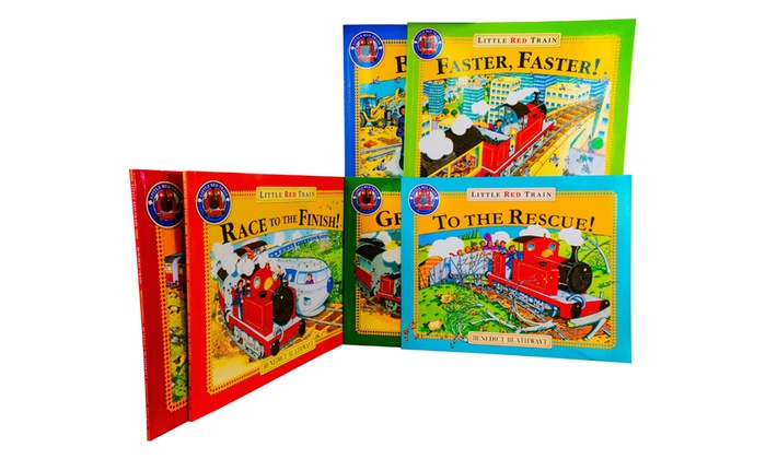 Collection of Six Benedict Blathwayt's Little Red Train Books
