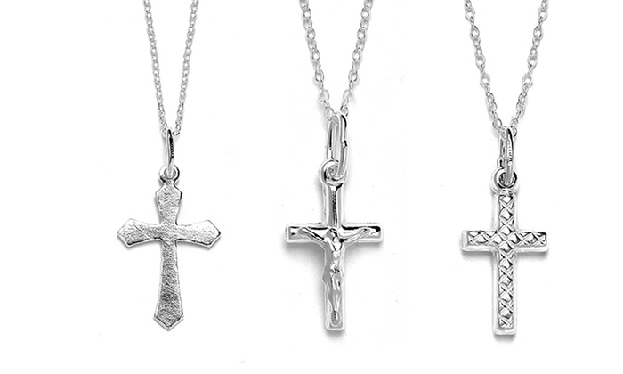 Sterling Silver Cross Pendant with Chain: $8.99 for a Sterling Silver Cross Pendant with Chain ($45 List Price). Multiple Styles Available. Free Returns.