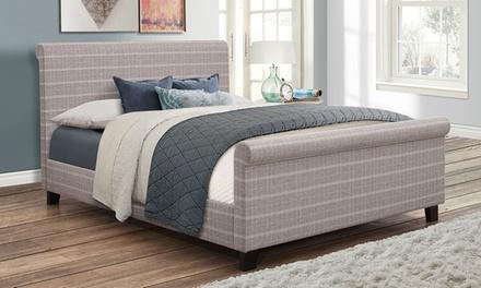 Hudson Grey Check Bed