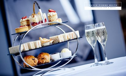 Afternoon Tea with Prosecco for Two at Marco Pierre White Steakhouse Bar & Grill, Multiple Locations (Up to 42% Off)