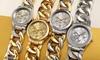 Akribos XXIV Women's Crystal Multi-Function Twist Chain Bracelet Watch