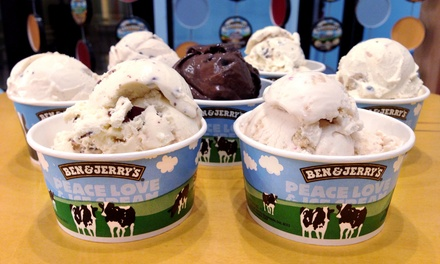 Frozen Treats or Catering from Ben & Jerry's (50% Off). Three Options Available.