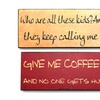Sassy Wall-Art Signs Printed on Wood