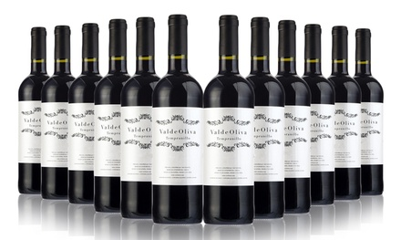 Valdeoliva Tinto, Tempranillo: Case of 6 or 12 Spanish Red Wines