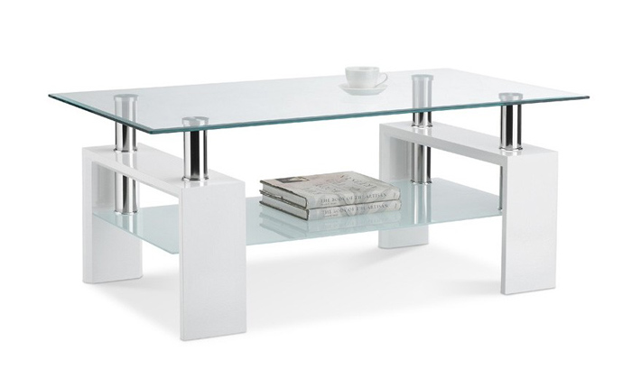 Table basse plateau en verre groupon for Groupon table basse
