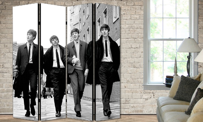 Beatles room dividers groupon goods for Beatles bedroom ideas