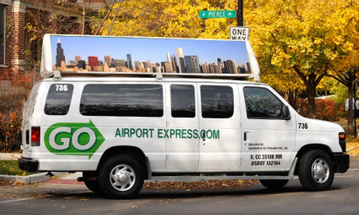 GO Airport Express - Chicago: $15 for One-Way Transportation to or from Midway or O'Hare from GO Airport Express (Up to $47 Value)