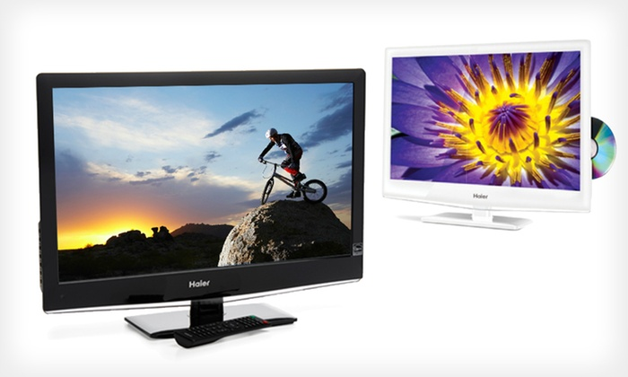 Haier 24-Inch LED 1080p TV with Built-In DVD Player: $179.99 for a 24-Inch TV in Black or White (Manufacturer Refurbished) ($329.99 List Price). Free Shipping and Returns.
