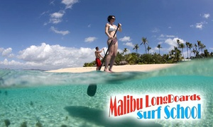 Up to 60% Off Paddleboarding in Santa Monica at Malibu Paddle Surf, plus 6.0% Cash Back from Ebates.