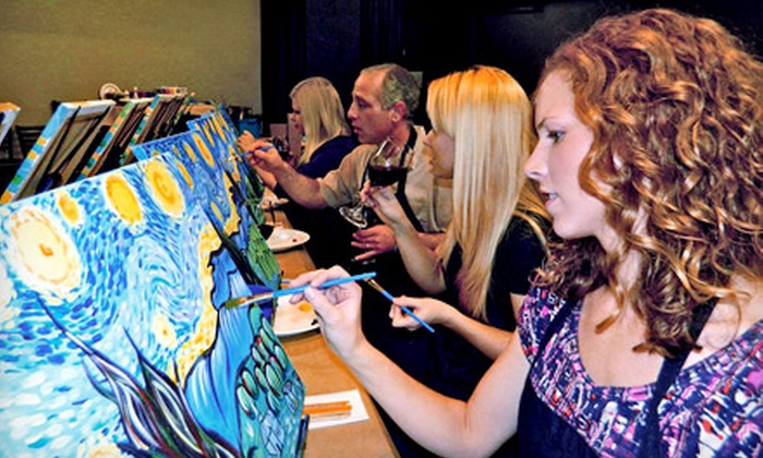 Art Social - Multiple Locations: Three-Hour Painting Class for One or Two at Art Social (Up to 53% Off)