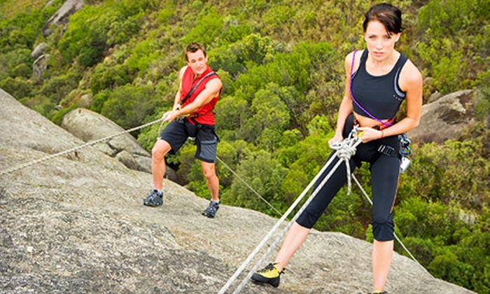 Adventure Out - Castle Rock State Park: $49 for a Four-Hour Rock-Climbing Lesson with Guided Climb and Gear from Adventure Out (Up to $99 Value)