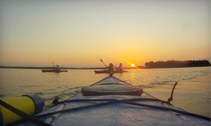 Mahanaim Adventures - Wilmington: Sunset Kayaking Trip with a Picnic Dinner for Two or Four from Mahanaim Adventures (Up to 53% Off)