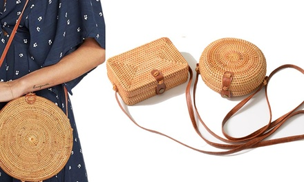 Hand-Woven Rattan Bags: One ($35) or Two ($59)