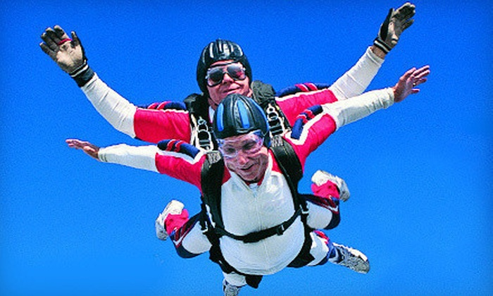 ThrillZOWN - Multiple Locations: $159 for a Tandem Skydiving Jump at ThrillZOWN ($289 Value)