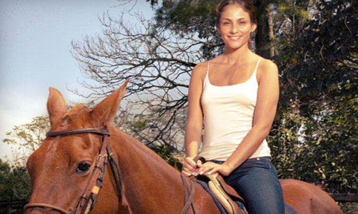 Cascade Stables - New Orleans: $25 for a Guided Horseback Ride at Cascade Stables ($40 Value)