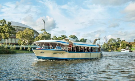 45Minute River Torrens Cruise for Two $19 or Family of Four $29 on AwardWinning The Popeye Up to $42 Value