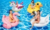 Duck, Swan, Flamingo or Unicorn Animal Ride-on Pool Floats or Air Pump