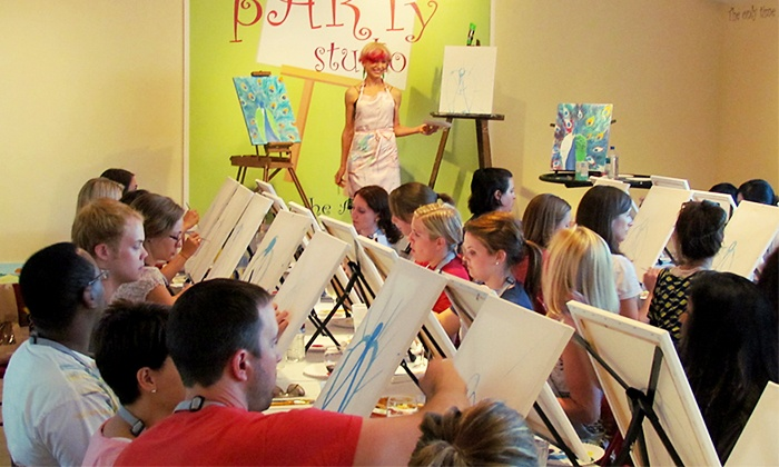 The Party Studio - Worthington: $19 for One Admission to Group BYOB Painting Class at The Party Studio ($35 Value)