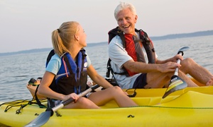 One Or Two-hour Use Of A Single Or Double Kayak With Lesson From Marina Paddle (51% Off)