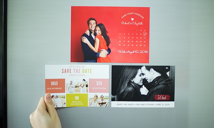 Custom Save the Date Magnets from Photobook America: Custom Save the Date Magnets from Photobook America
