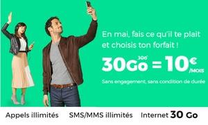 Zanox Media: REDbySFR : forfaits sans engagement (appels et SMS illimités) et 30 GO d'internet à 10€/mois