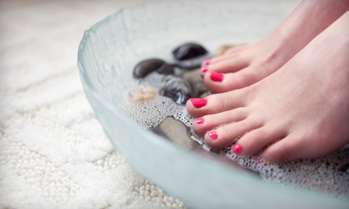 Elegance Medi Spa - Downtown: One or Three Mani-Pedis at Elegance Medi Spa (Up to 59% Off)
