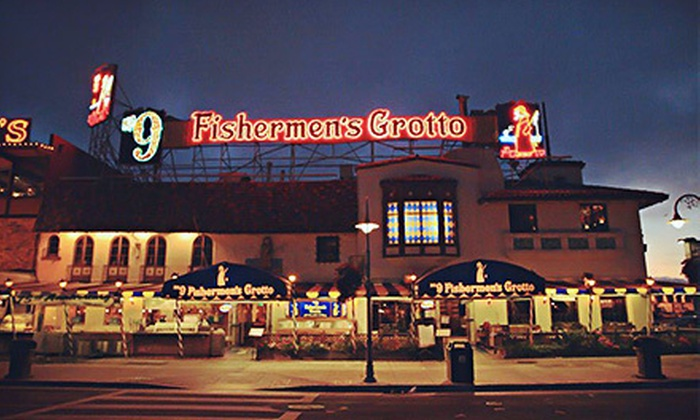 Fishermen's Grotto - Fisherman's Wharf, North Beach/Telegraph Hill: Three-Course Seafood Meal for Two or Four with Wine at Fishermen's Grotto (Up to 56% Off)