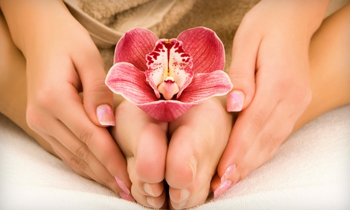 Modern Nails - Windsor: $22 for a Shellac Manicure and Traditional Pedicure at Modern Nails in Newport News ($45 Value)