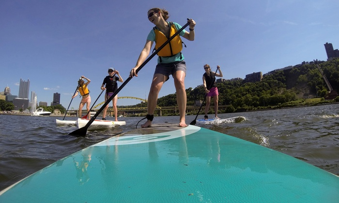 Sup3rivers - South Side River Front Park: Stand Up Paddleboard Rental from SUP3Rivers (Up to 56% Off). Three Options Available.