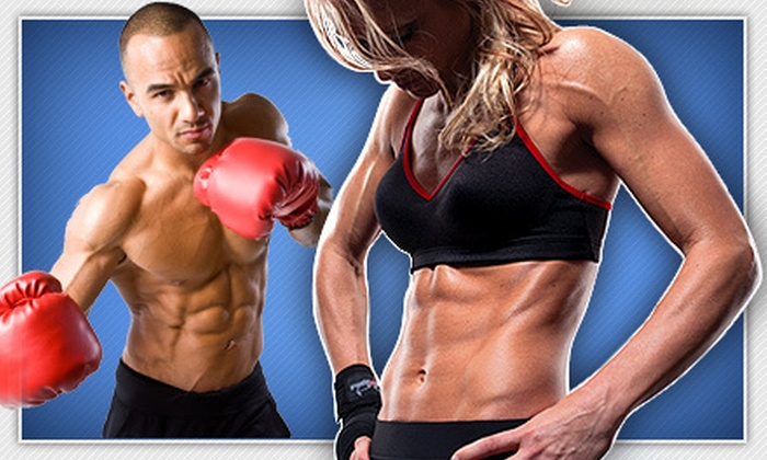 iLoveKickboxing.com - Meridian: 4 or 10 Kickboxing Classes with Personal-Training Session and Boxing Gloves at iLoveKickboxing.com (Up to 74% Off)