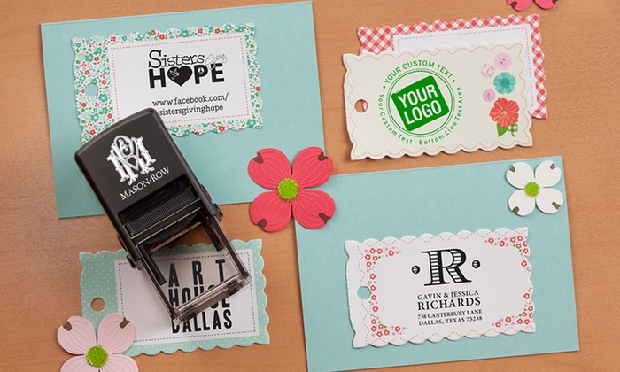 Mason Row: Self-Inking Stamper with Personalized Designs and Additional Color Cartridge from Mason Row