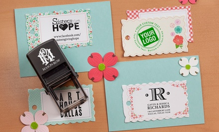 Self-Inking Stamper with Personalized Designs and Additional Color Cartridge from Mason Row