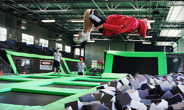 Absolute Air Park - Arlington: $9 for Two Hours of Trampoline-Park Open-Jump Time at Absolute Air Park (Up to $19 Value)