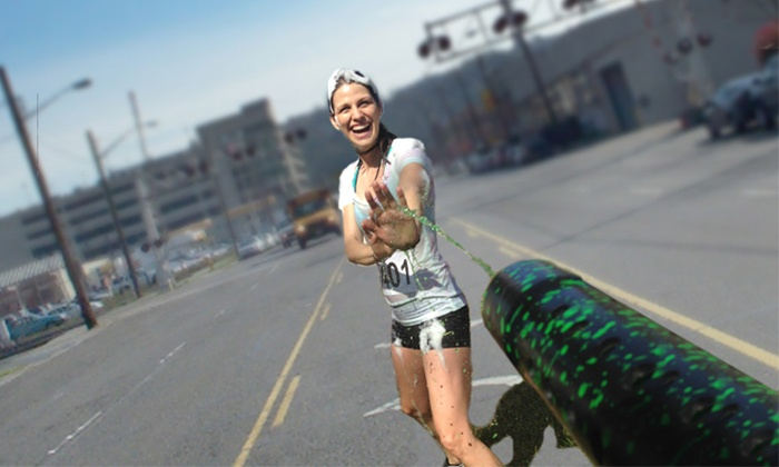 ColorFoam5k - Central Industrial District: Race Entry for One, Two, or Four to the ColorFoam5k on Saturday, May 10 (Up to 50% Off)
