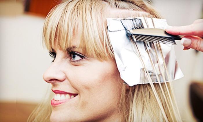 Portfolio Hair Studio - Kanata Lakes - Marchwood Lakeside - Morgan's Grant - Kanata: Haircut, Shampoo, and Style with Optional All-Over Colour or Partial Highlights at Portfolio Hair Studio (Up to 52% Off)