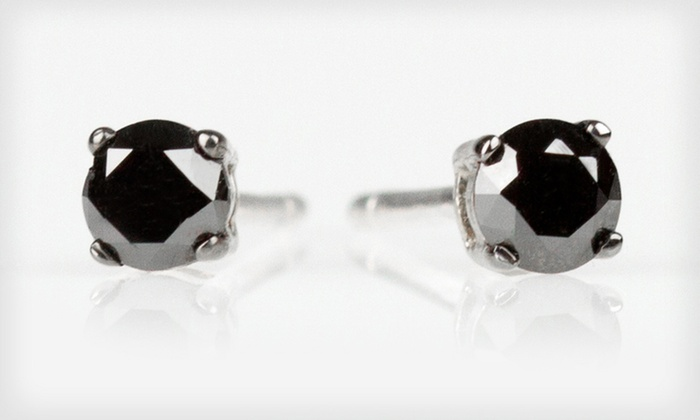 Half-Carat Black Diamond Stud Earrings: $25 for Half-Carat Black Diamond Stud Earrings ($175 List Price). Free Shipping.