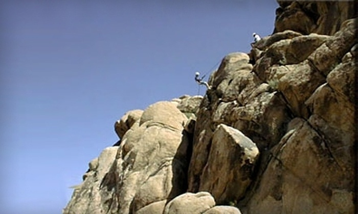 Sierra Rock Climbing School - Mammoth Lakes: $149 for Four-Hour Private Rock-Climbing or Rappelling Tour for Two from Sierra Rock Climbing School in Mammoth Lakes ($310 Value)