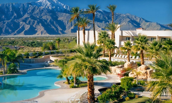 Miracle Springs Resort & Spa - Miracle Springs Resort & Spa: One- or Two-Night Stay with Spa Credit or Massage and Wine at Miracle Springs Resort & Spa in Desert Hot Springs, CA