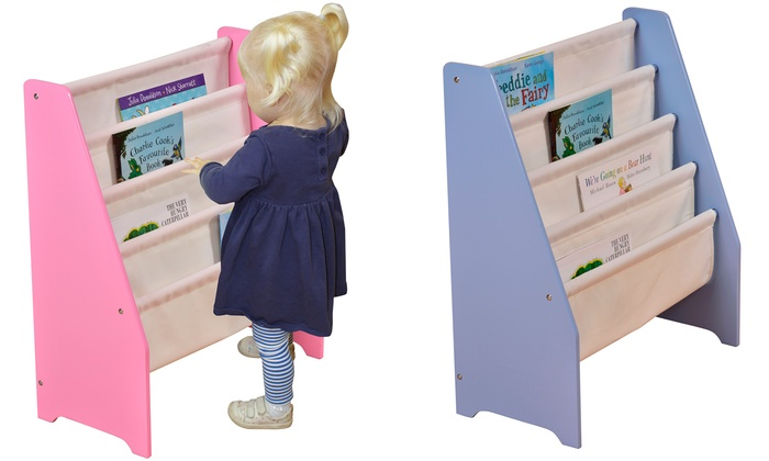 Liberty House Wooden Book Display with Canvas Pockets (£24.95)