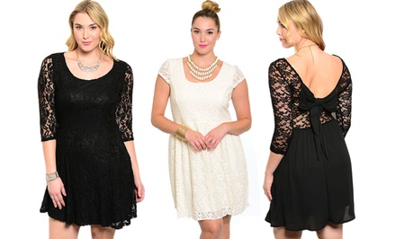 Plus-Size Cocktail Dresses. Multiple Styles Available.