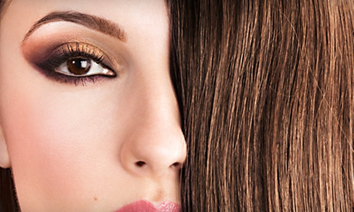 Remix Hair - Hollywood: Haircut with Damage Treatment and Optional All-Over Color or Partial or Full Highlights at Remix Hair (Up to 71% Off)